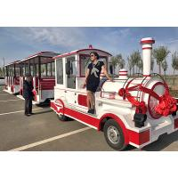 Wholesale Theme Park Roundhouse Trackless Trains 72 Sets Diesel Road Train Steering System from china suppliers