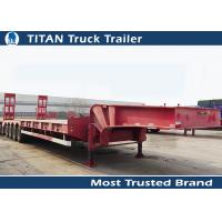 Wholesale 4 Axle Semi 80 Ton Low Bed Truck Trailer For Heavy Duty Equipment Transport from china suppliers