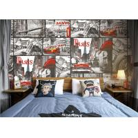 Wholesale Paris Themed Wallpaper For Bedroom / Removable Boys Room Wallpaper from china suppliers