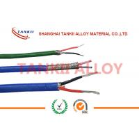 China PTFE insulated blue / red thermocouple cable  type JX KX EX with superfine bare wire conductor on sale