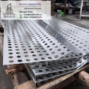 China SUDALU Aluminum Perforated Panel Bending Shape Aluminum Panel for Wall Decoration on sale