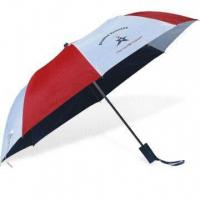 Wholesale 2-fold Auto Open Umbrella with Zinc-plated Metal Ribs from china suppliers