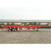 CIMC Truck Dual Axle Flatbed Trailer ABS System Axle For Port Yard