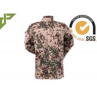 Camouflage Desert Military Combat Uniform With Double Needle Fell Seam