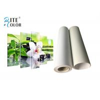China 260g Roll To Roll Eco Solvent Media , Bright White Matte Polyester Digital Printing Canvas Roll on sale