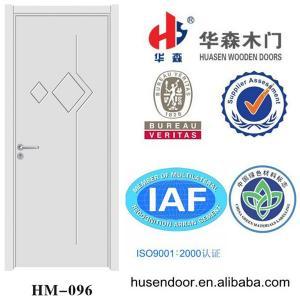 simple design pure white interior pvc wooden door