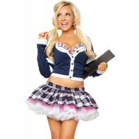 China Wholesale School Girl Costume College Babe School Girl Outfit by Spandex and Cotton Fabric in Blue  Color with XXS-XXXL on sale