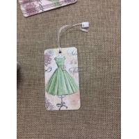 China standard size 5*9cm clothing hangtag with customized logo printing garment tag on sale