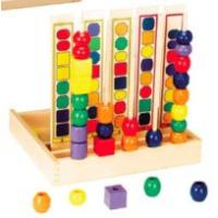 Wholesale Two Wires wooden mini beads Rack toys from china suppliers