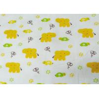 China Cotton Fannel Cloth Cartoon Animal Reactive Printed Fabric Fannel Printed  For Baby Blanket on sale
