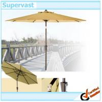 Wholesale Patio Parasol 9 Inch Aluminum Patio Furniture Round Tilt And Crank Patio Umbrella from china suppliers
