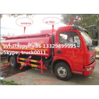 Buy cheap Dongfeng xiaobawang diesel 95hp 5000 liter mobile refueling trucks, factory sale best price dongfeng 5m3 oil tank truck from Wholesalers