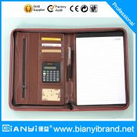 Wholesale PU Leather portfolio with pad and retractable handle from china suppliers