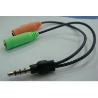 Wholesale 3.5mm male to 3.5mm earphone microphone plug audio conversion line for PC tablet  from china suppliers