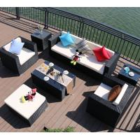 Wholesale Foshan supplier Outdoor Garden rope waterproof furniture aluminum patio rattan hotel lots sofa table chair set from china suppliers