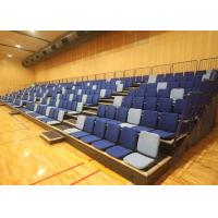 Anti Slip Plywood Retractable Gymnasium Bleachers Upholstered Seat Base / Backrest