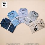 Wholesale LV men plaid shirts ,printing shirts ,long sleeve shirt, brand shirts from china suppliers