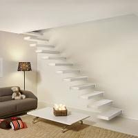 Buy cheap Wooden stair with Glass railing/ Build Floating Stair from wholesalers