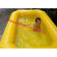 Wholesale double tubes pvc tarpaulin inflatable kids swimming pool for sale from china suppliers