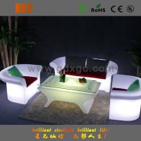Double Seat LED Light Sofa , Change Colors Via Remote Control for Hotel Room and Hall