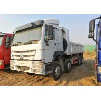 Wholesale White HOWO 8x4 Tipper Truck Heavy Duty Construction Dump Truck 30 Cubic from china suppliers
