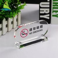Wholesale Promotion 	Acrylic Sign Display Holder No Smoking Acrylic Tag Holder ODM OEM Service from china suppliers