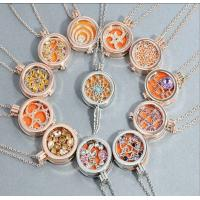 Wholesale New style silver/gold/rose gold plated locket necklace with crystal from china suppliers