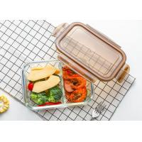 Wholesale Storage Glass Food Container With Lid / Glass Crisper / Microwave Glass Bowl from china suppliers