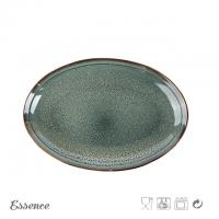 Wholesale Customized Color Ceramic Serveware Set , Ceramic Oval Stoneware Plates For Home / Cafe from china suppliers