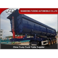 Wholesale 4 Axles 45 Cubic Meters Stone Sand Dump Trailer from china suppliers