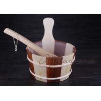 """Buy cheap Liner 7"""" high Wooden Water Bucket hold one gallon with plastic liner from Wholesalers"""