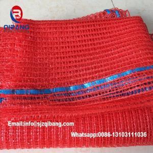 Wholesale 25 kg Leno mesh bag packing for onion drawstring mesh bag for fruits potato onion garlic raschel mesh bag from china suppliers