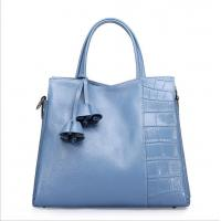 Top layer leather tote bag woman's bags fashion Bucket handbags with crossbody strap