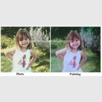 Wholesale Children Portraits Painting Oil on Canvas Professional Photo to Painting Gift from china suppliers