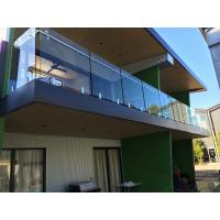 Wholesale Exterior balcony glass balustrade with stainless steel spigots glass railing from china suppliers