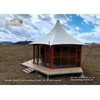 Wholesale Outdoor Hotel Luxury Glamping Tents High Peak White Roof And Aluminum Structure from china suppliers