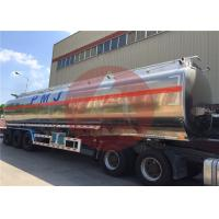 Quality 50000 L 5 Compartments Aluminum Fuel Tank Trailer Large Carrying Capacity for sale