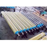 China Smooth Surface Rubber Coated Conveyor Rollers , Industrial Rubber Rollers No Swelling on sale