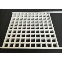 Buy cheap Square Lattice Grille Suspended Metal Ceiling Aluminum Alloy 0.4mm Thickness from Wholesalers