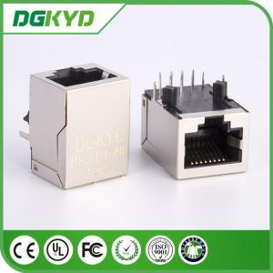 Shield Network port 1 x 1 Tab Down RJ45 Jack Module with Lan Transfomer 10/100Base J0011D01NL
