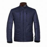 Wholesale Men's Pongee Spring Jacket, Fancy Piping Pockets, Excellent Workmanship from china suppliers