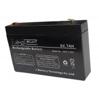 Wholesale Solar System 6v 7ah Rechargeable Battery , Long Life Lead Acid Battery from china suppliers