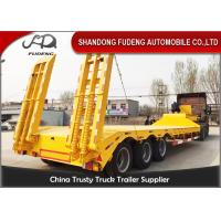 Wholesale Tri Axle Low Bed Semi Truck Trailer For Sale 60 Ton Heavy Machine Transport from china suppliers