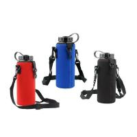 Wholesale 1000ml Custom neoprene water bottle holder with adjustable shoulder strap.size is 22cm*8cm, SBR material. from china suppliers