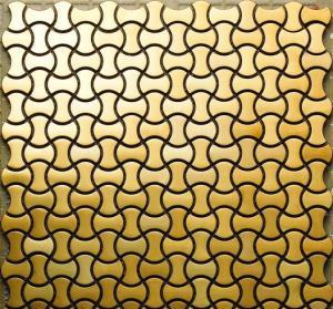 MI04 Stainless Steel Tile, Gold Titanium Mosaic Tile