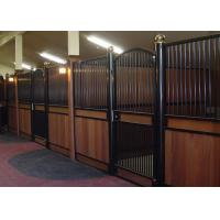 Wholesale V Front Movable Horse Stalls, Horse Stall Front KitsWith Full Grill Swing Door from china suppliers