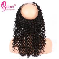 Buy cheap Curly 360 Lace Frontal Ear To Ear Natural Hairline Human Hair Extensions from wholesalers