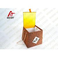 Wholesale Bamboo Made Food Container Customized Paper Box With Ribbon Fashion Style from china suppliers