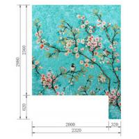 China Multi Color Large Floral Wall Mural , Mural Painting Flower Designs Radiation Free on sale