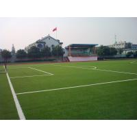 China DZH25 Soccer Artificial Turf Grass , UV-Resistant Synthetic Turf Gauge 3 / 8 on sale